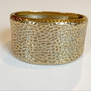 Chico's Gold Textured/stamped metal  Bangle